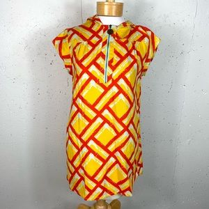 Tracy Feith size Small Yellow Orange Hooded Dress